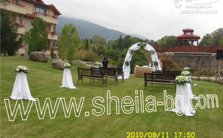 Красива сватба в лятна градина